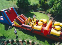 Team building inflatable obstacle course games B5006