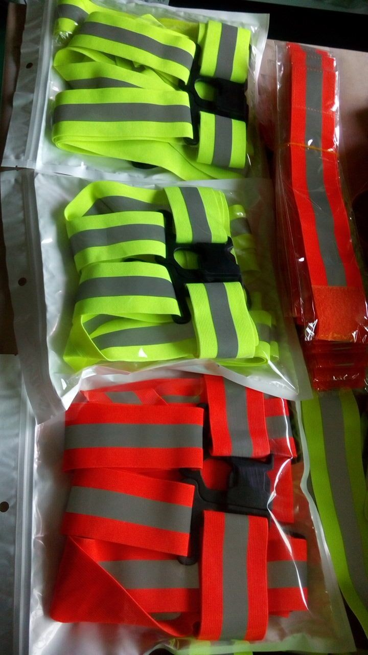 Hi Visibility Reflective Fluorescent green Security adjustable Vests