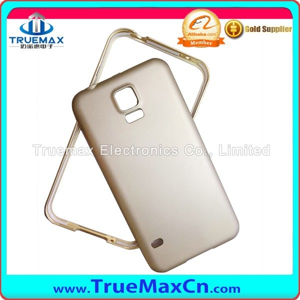 New Arrival Double Color ARC Metal Bumper And Metal Back Cover Case For Samsung S4/S5/Note3/Note4