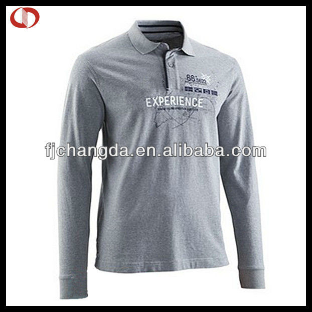 2013 Long sleeve fashion polo shirts for men with high quality/printed men's polo