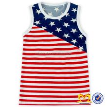New 4th Of July Adult Baby Girl Clothing Patriotic Day Wear Wholesale Boutique Sleeveless Baby Clothes