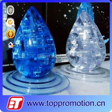 educational crystal plastic 3d puzzle water drop puzzle