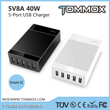 USB travel charger for mobile iPhone suitable for various types USB cables