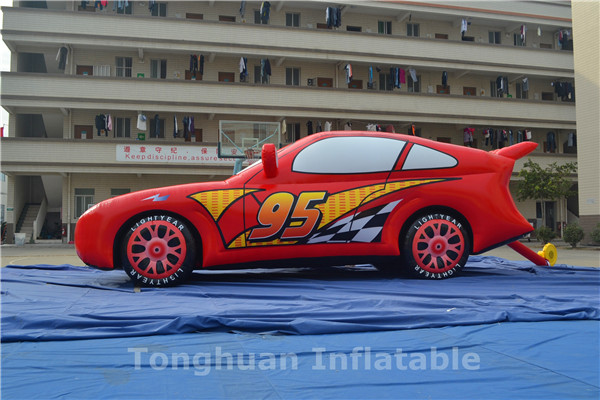 Giant inflatable car model for advertising
