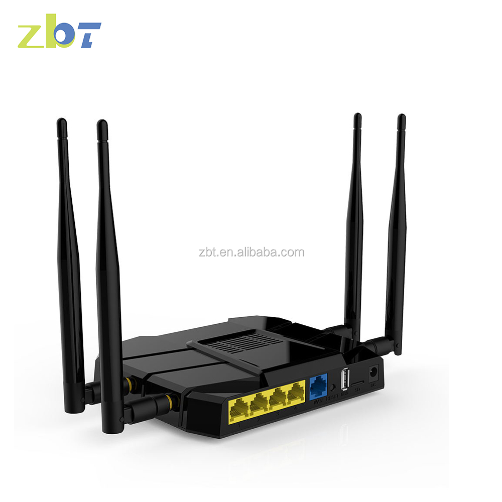 Alibaba wholesale MT7621+MT7612 dual-band gigabit ethernet router board 4g connect router