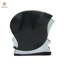 China shanxi black granite grave headstones with cheap price