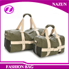 2016 Two Size Small & Large Capacity Oversized Tote Shoulder Weekend Duffel Bags Canvas Travel Bag