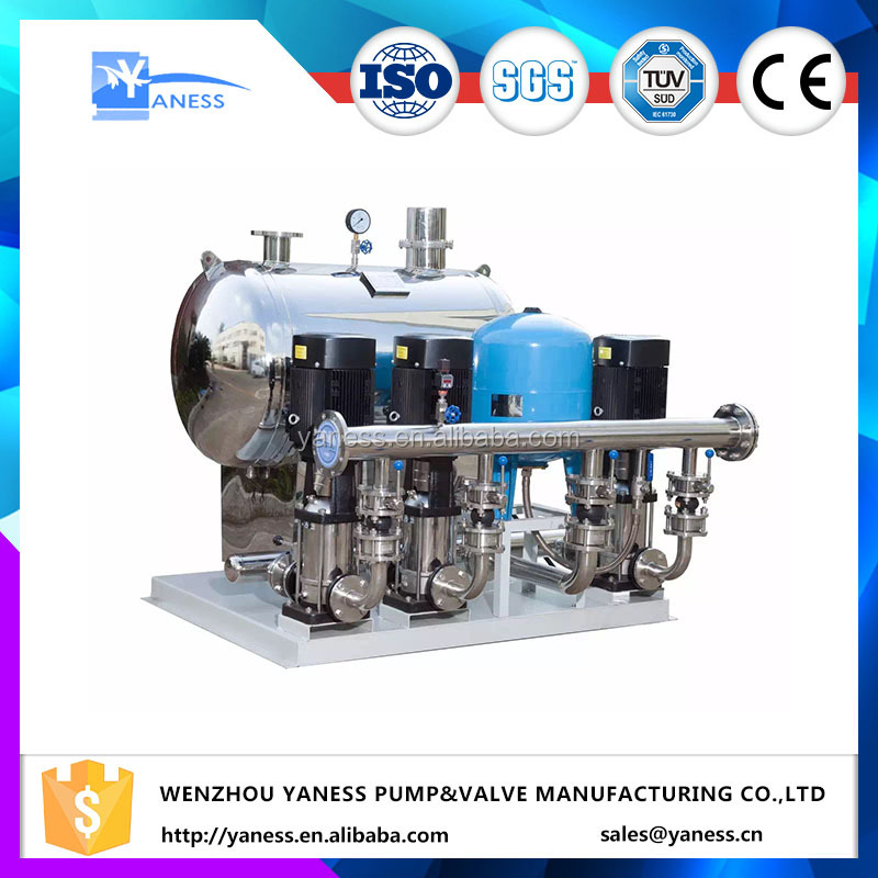 condensing system Stainless steel vertical multistage centrifugal pumps in waterworks