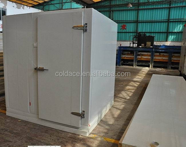cold chamber with cam lock type PU panel assembled and convex hinged door