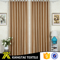 Gold color blackout embossed curtain design window for hotel, hometextile