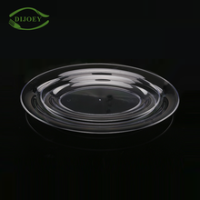 Professional factory wholesale clear trantparent round ps plastic food disposable serving tray