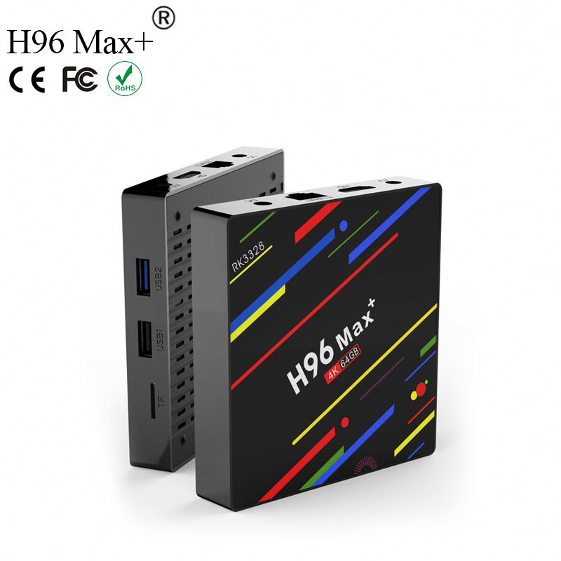 Cheapest Factory Price H96 Max+ 4G RAM 32G/64G ROM Network Player smart Set tv box New Arrival