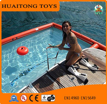 Giant PVC floating inflatable boat swimming pool with high quality