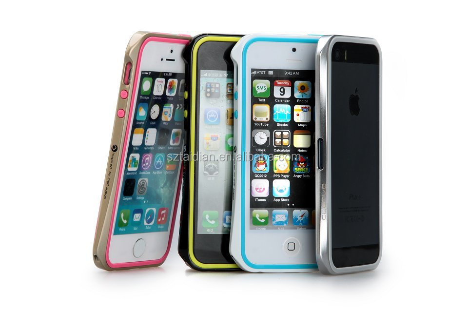 2014 new fashion high quality slim small wasp waist phone cases metal hard bumper double frame cover case for apple iPhone 5 5s