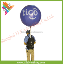 Advertising inflatable backpack inflatable ball with led light