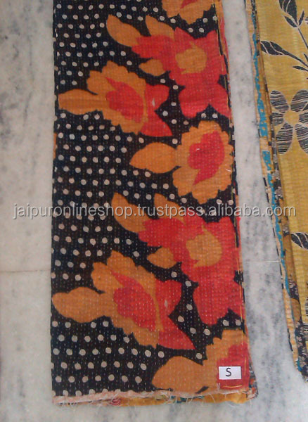 Authentic indian old vintage kantha Quilt Reversible 100% cotton Quilts/Throw/Blanket/Gudari