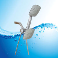 China custom size wholesale High Quality three ways rain shower head, flexible shower head extension