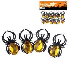 halloween jewel over cut black spider ring