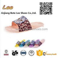 factory directly pvc slipers bathroom shoes indoor anti skid sandals 3D printing for ladies girls