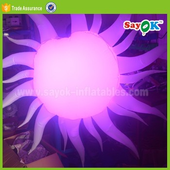wedding stage backdrop decoration large inflatable sun led ball
