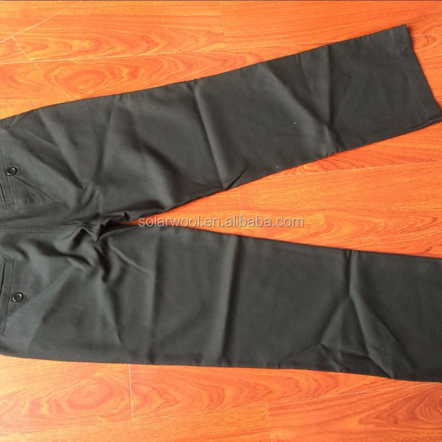 30%Wool 70%Polyester Black Casual Men's Long Pant