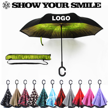 Wholesale C Handle UV protection Inverted umbrella promotional