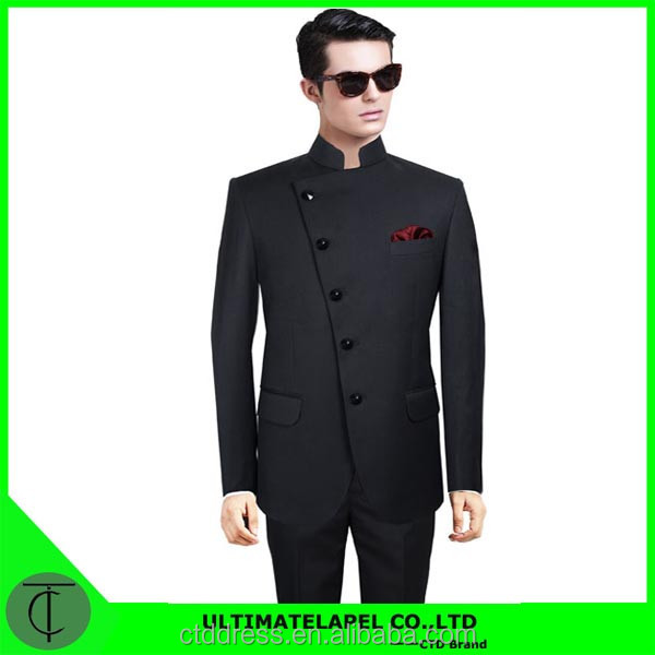 2015 Men's new style Stand collar special design suit for men