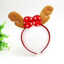 Fashionable Christmas Hair Accessories Festive Antlers Hairband Christmas Tree Hair Ornament For Children and Adults