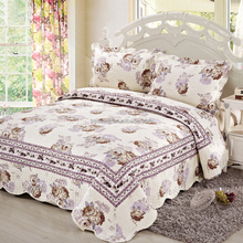 Wholesale Flower Printed Microfiber Patchwork Indian Bedspreads And Quilts