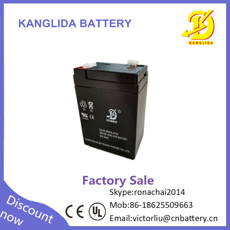 Factory direct sale 6v5ah sealed ABS plastic AGM rechargeable battery for emergency start power
