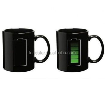 China Factory selling Home & Garden Drinkware Magic Battery Temperature Color Changing Porcelain Mug Cup