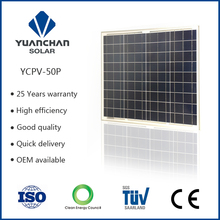 Mini and portable polycrystal 50W solar panel manufactory for travel with certificates assurance