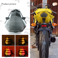 Led Tail Light Integrated Brake Light with Turn Signal Light Indicator Lamp fit for 2006-2013 Yamaha YZF R6
