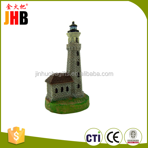 Popular sale table craft unique miniature lighthouse toy