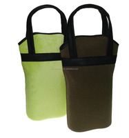 Wholesale High Quality Two Bottles Pack Thermal Bag Wine Cooler Bag Picnic Bag