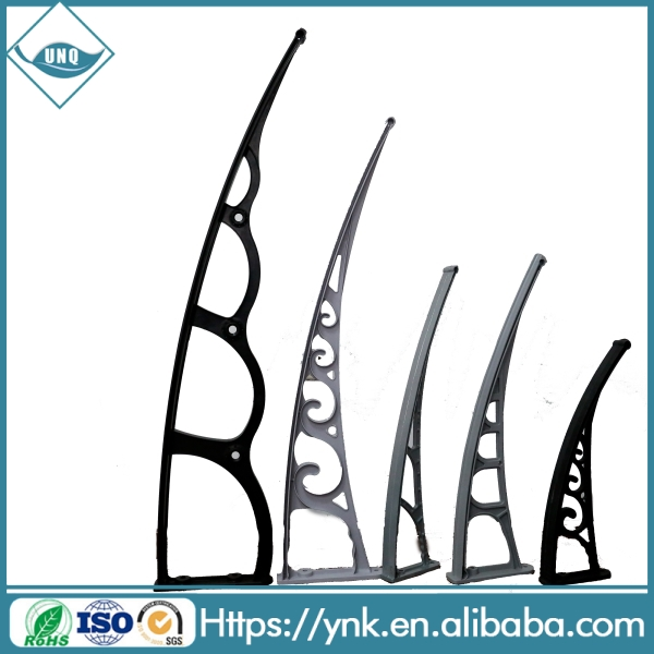 polycarbonate awning brackets for outdoor canopy balcony awning design