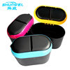 Car Auto Accessories Hot sell compact design garbage bin with tissue box holder