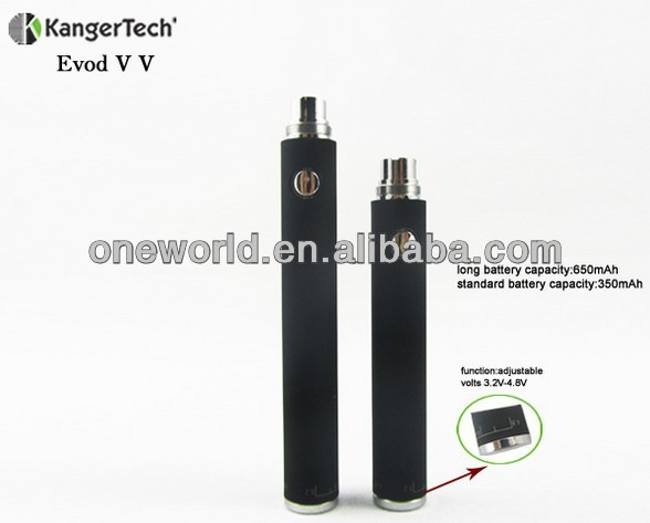 high quality evod vv ecig /kanger evod vv battery back to stock