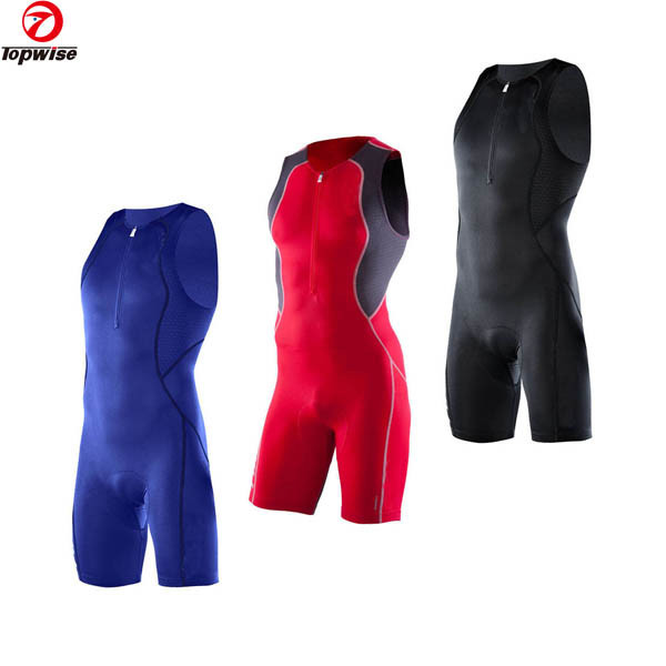 Professional high quality men sleeveless lycra triathlon suit