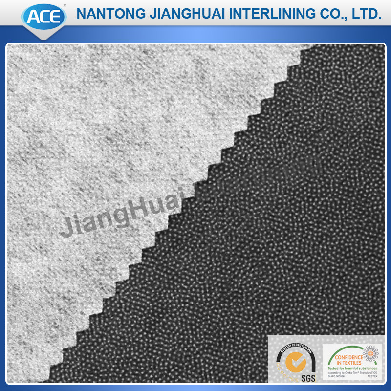 High class double dot non woven suit and uniform fusible interlining fabric