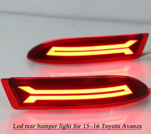 High quality red modified rear bumper light for 2015 2016 year Toyato Avanza