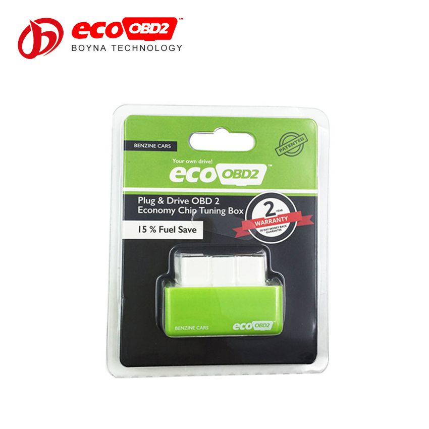 Easy to Use Eco OBD2 Economy Chip Tuning Box 15% Fuel Save Lower Emission EcoOBD2 Benzine Green