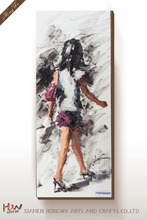 Canvas Art Prints oil Painting Girl with High Heel Shoes Frameless Giclee World Famous Artist Oil Painting