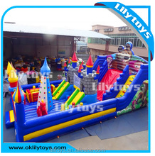 outdoor Big playground inflatable slide bouncer for kids amusement park