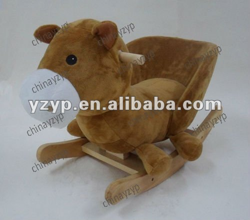 Plush toys rocking horse chair