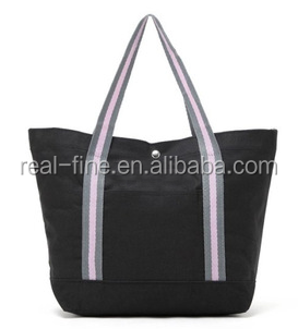 New Fashion Brand Black Leisure Lady Handbag Shoulder Bag Cotton Women Tote Purse For Lady