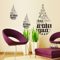 High Quality English Characters Quote Wall Art Sticker Vinyl Decal Home Room Decor Waterproof Removable Bathroom Glass/Mirror