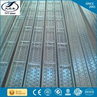 china supplier STEEL CATWALK metal scaffolding plank platform/perforated steel plank with low price