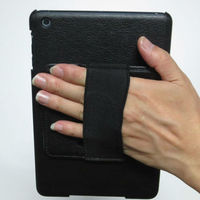 Rotating leather case for ipad mini with handhold grip