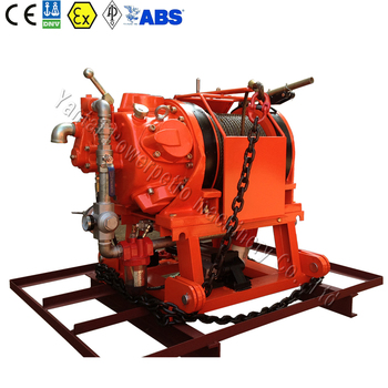 ABS/CCS certified 5 ton air driven winches for marine ships